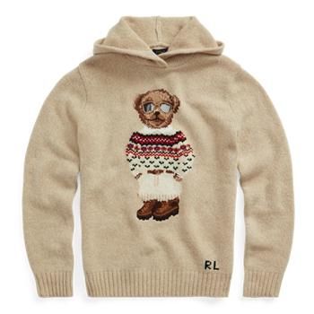 Polo Bear Wool-Blend Knit Hoodie Ralph Lauren