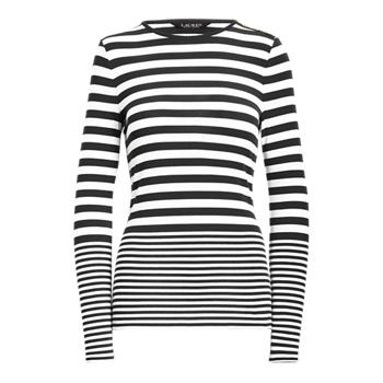Striped Snap-Trim Long-Sleeve Top Ralph Lauren