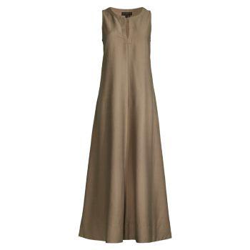 Slash Front Maxi Dress Donna Karan