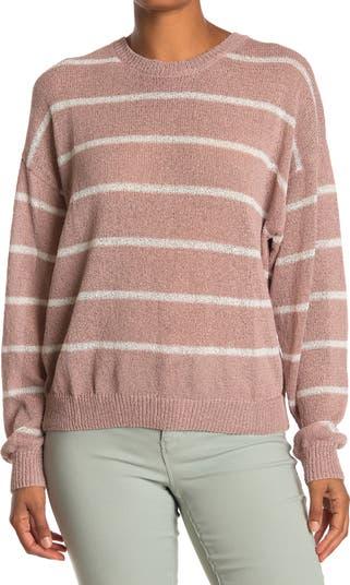 Полосатый вязаный пуловер-свитер Wishlist