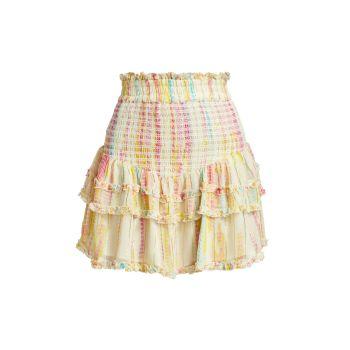 Мини-юбка с принтом тай-дай HEMANT & NANDITA