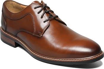 Оксфорд с простым кожаным носком Hayden - Доступна широкая ширина Nunn Bush