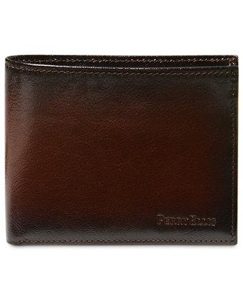 Портфель мужской кожаный Мичиган тонкий двойной кошелек Ombre Perry Ellis Portfolio