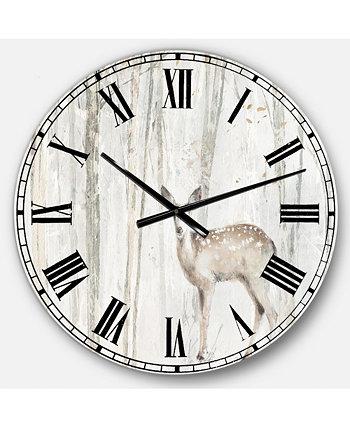 Большие металлические настенные часы Modern Farmhouse Designart