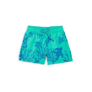 Little Boy's & amp; Плавки для мальчиков с кораллами и черепахами VILEBREQUIN