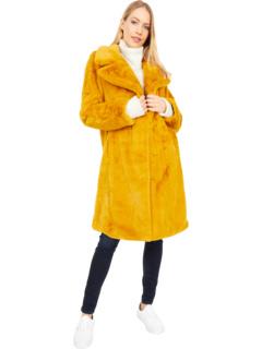 Пальто с кроликом из искусственного меха Avec Les Filles