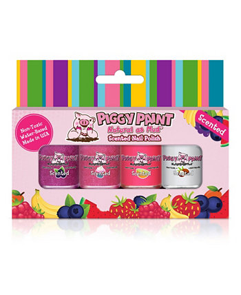 Краска для ногтей с ароматом сладкого лакомства, набор из 4 шт. Piggy Paint