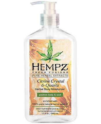 Fresh Fusions Citrine Crystal & Quartz Herbal Увлажняющий крем для тела, 17 унций, от PUREBEAUTY Salon & Spa Hempz