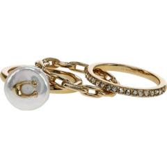 Pearl Logo Ring Set COACH