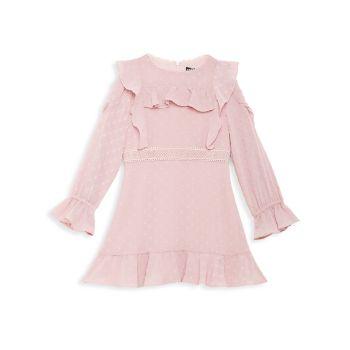 Маленькая девочка & amp; Расклешенное платье Abbie с рюшами для девочек Bardot Junior