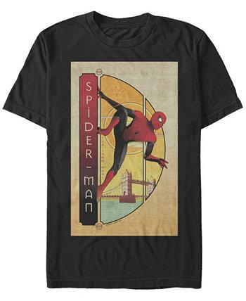 """Мужская футболка """"Человек-паук"""" вдали от дома, футболка с коротким рукавом Marvel"""