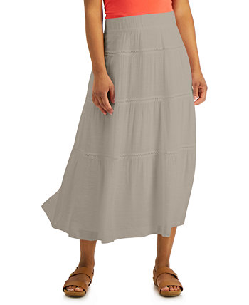 Gauze Tiered Skirt, Created for Macy's J&M Collection