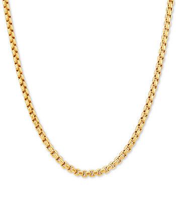 "Box Link 22 ""Цепное ожерелье из золота 14 карат Italian Gold"