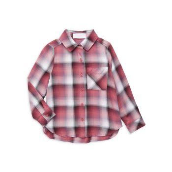 Маленькая девочка & amp; Рубашка с карманом для девочки в клетку Bella dahl