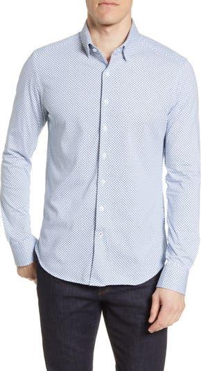 Трикотажная рубашка на пуговицах с длинными рукавами и микропринтом Stone Rose