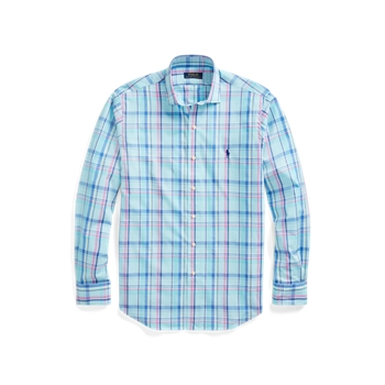 Классическая рубашка из эластичного поплина в клетку Ralph Lauren