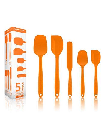 Силиконовый шпатель с антипригарным покрытием Набор посуды премиум-класса, 5 предметов, можно мыть в посудомоечной машине OVENTE