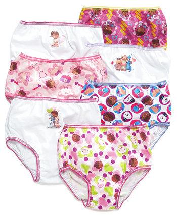 Хлопковые трусики Doc McStuffins, набор из 7, для девочек младшего возраста Disney