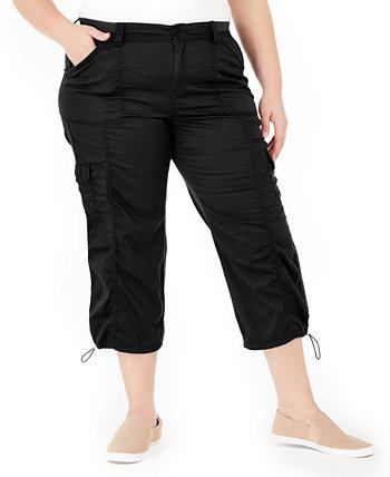 Хлопчатобумажные капри брюки большого размера, созданные для Macy's Style & Co