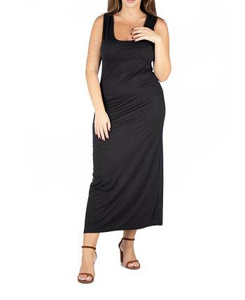 Женское макси-платье больших размеров Racerback 24seven Comfort Apparel