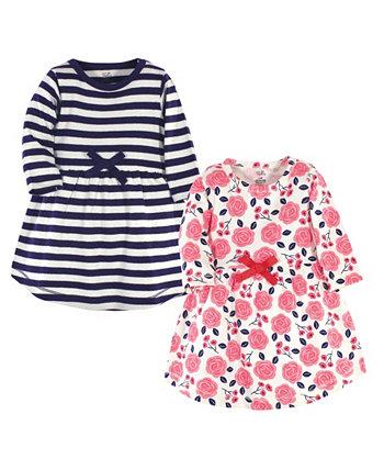 Платья с длинными рукавами для девочек Toddler Girls Rose, упаковка из 2 штук Touched by Nature