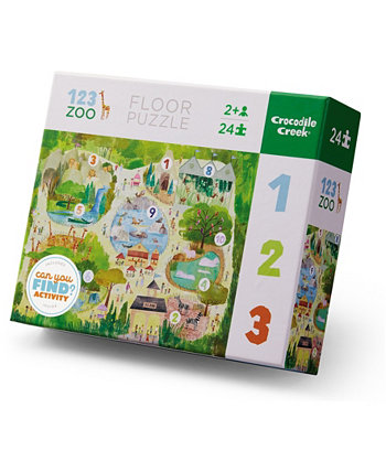 Раннее обучение - Головоломка 123 Zoo Floor - 24 предмета Crocodile Creek