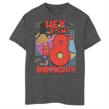 Футболка для мальчиков 8-20 Nickelodeon Hey Arnold Gerald с рисунком в честь 8-го дня рождения Nickelodeon