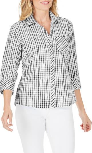 Рубашка с принтом Hampton Crinkle в клетку FOXCROFT