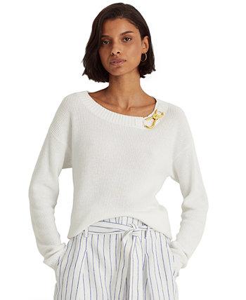 Combed Cotton Sweater Ralph Lauren