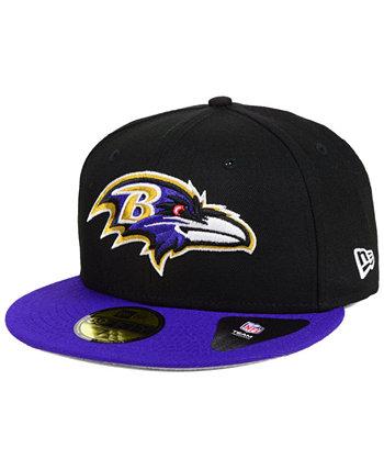 Baltimore Ravens Team Basic 59FIFTY Установленная кепка New Era