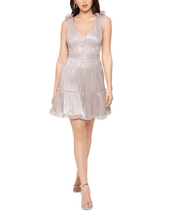 Платье с металлической отделкой и оборками XSCAPE