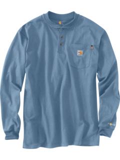 Большая и высокая огнестойкая футболка с длинным рукавом Force® из хлопка Carhartt