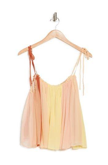 Olivia Tie Strap Silk Chiffon Top Cinq a Sept