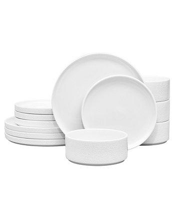 Colortex Stone 12 шт. Набор столовой посуды, сервиз для 4 человек, создан для Macy's Noritake