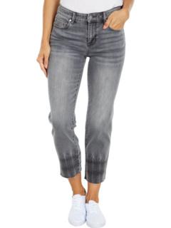 Укороченные прямые джинсы с необработанным краем из сланцевого камня Liverpool