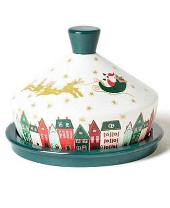 Рождество в деревне Круглое масляное блюдо Coton Colors