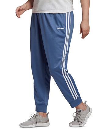 Трикотажные брюки большого размера с молнией во всю длину Adidas