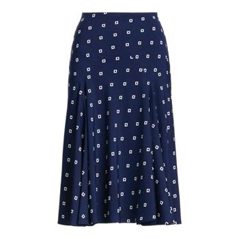 Print Crepe Peasant Skirt Ralph Lauren