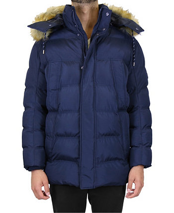 Мужская куртка-парка со съемным капюшоном в тяжелом весе Galaxy By Harvic