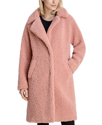 Notch-Collar Teddy Coat, Created for Macy's BCBGeneration