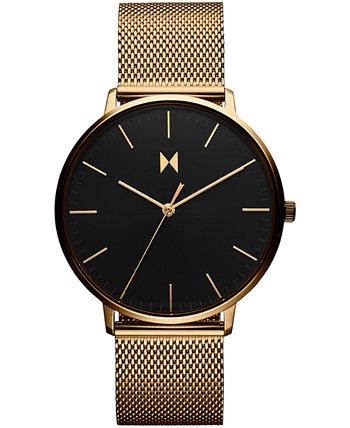 Мужские наручные часы Legacy Slim Gold в сетке с браслетом 42 мм MVMT
