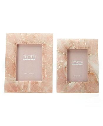 Розовые кварцевые оправы, набор из 2 шт. Two's Company