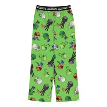 Пижамные штаны Minecraft Mob для мальчиков 4-16 цвета Regular и Husky Licensed Character