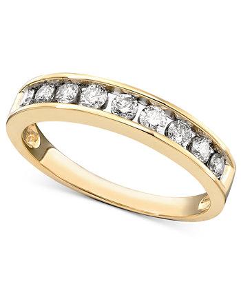 Кольцо Diamond Channel (1/2 карата) из желтого или розового золота 14 карат Macy's