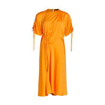 Асимметричное платье со сборками и сборками Bed to Babylon Davina STINE GOYA