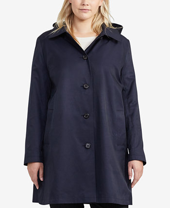 Большой размер пальто с капюшоном, созданный для Macy's Ralph Lauren