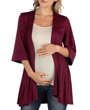 Открытый передний локоть рукавом для беременных кардиган 24seven Comfort Apparel