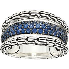 Классическое кольцо с синим сапфиром JOHN HARDY