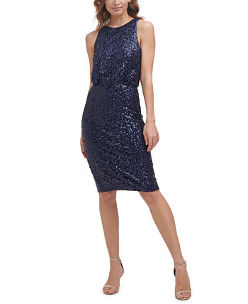 Sequined Sheath Dress Eliza J