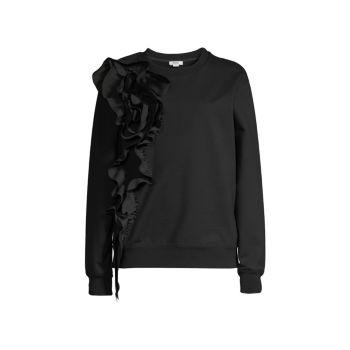 Floral Ruffle Sweatshirt Jason Wu